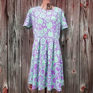 3XL Dress Lularoe Amelia Stretch Floral Plus NWT